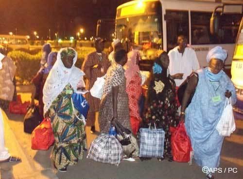 PELERINAGE 2011: Les premiers pèlerins sénégalais Arrivée à Dakar