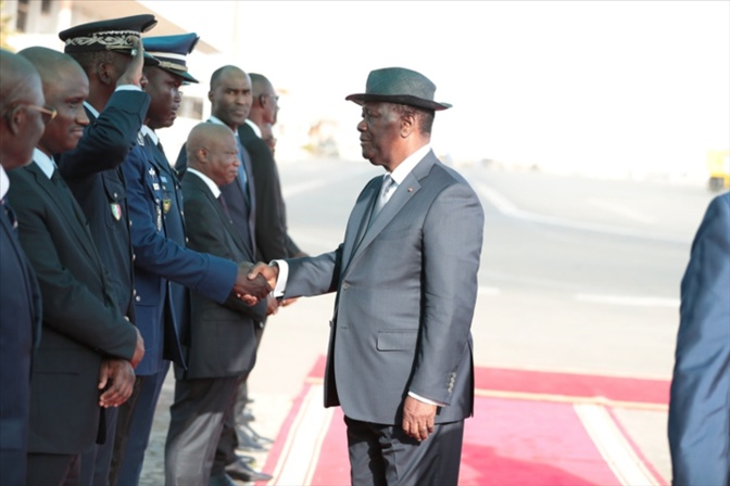 Visite privée: Le Président ivoirien Alassane Ouattara, à Dakar ce samedi 1er juin 2019