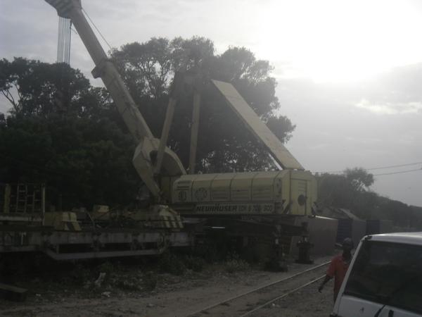 Un train de marchandise déraille