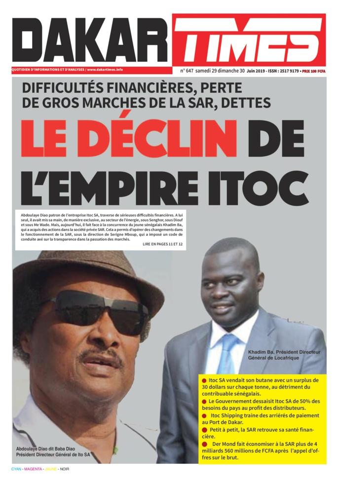 Perte de gros marchés de la SAR: Le déclin de l'empire Itoc