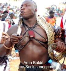 Pourquoi Ama Baldé avait ramené son boa ? : Le promoteur  l'y avait incité
