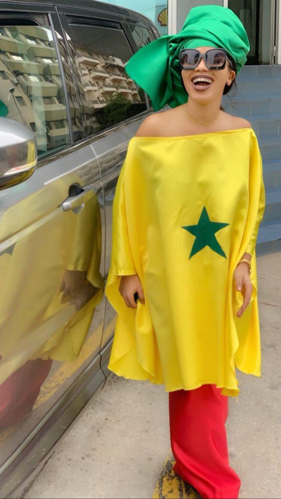 "PHOTOS - Ndèye Soxna en mode "" CAN"" pour supporter les Lions de la teranga"