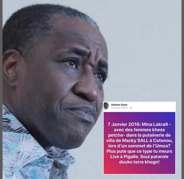 Poursuivi pour offense au chef de l'Etat, Adama Gaye sera déféré au parquet dans les prochaines heures