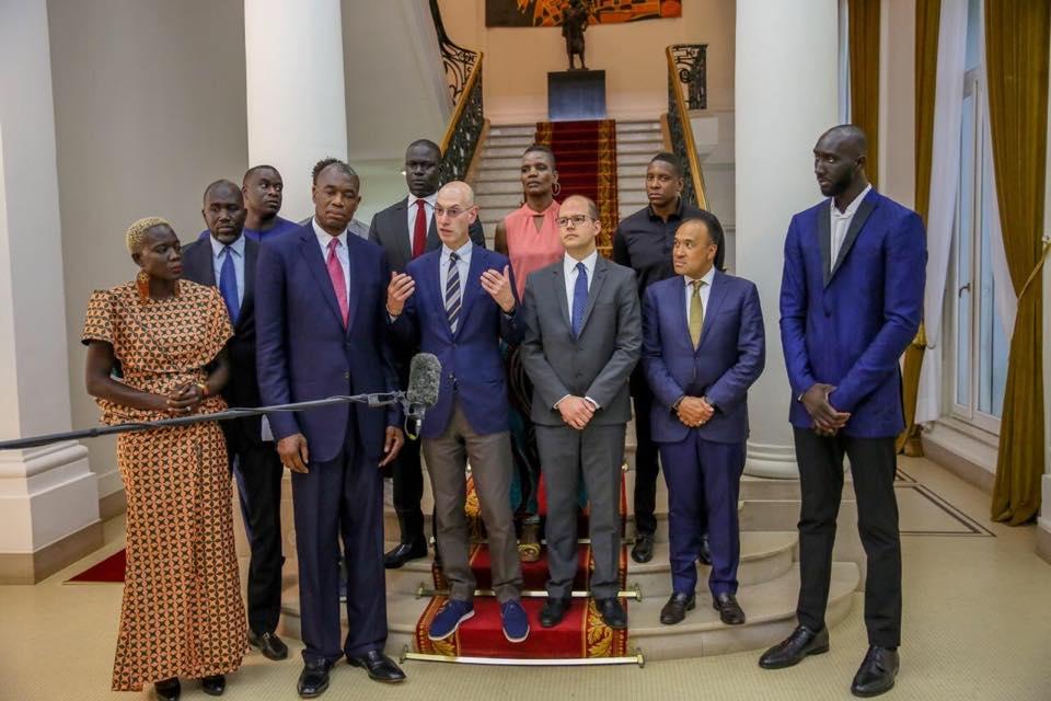 Gorgui Sy Dieng et Tacko Fall reçus par le Président Macky Sall