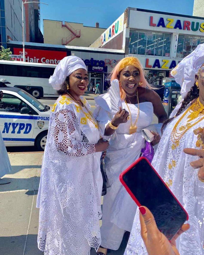 PHOTOS - Etats-Unis: Admirez l'époustouflant « sagnsé » de Ndiolé Tall « Diamant noir »