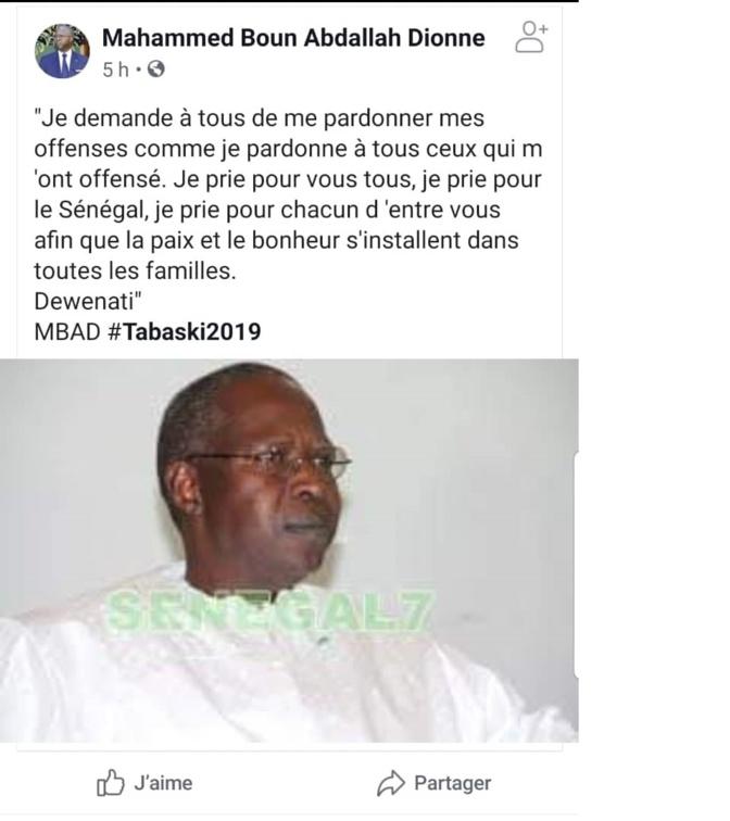 Fake News: Mahammad Dionne n'a pas posté de message de Tabaski sur Facebook