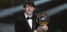 Le Barcelonais Lionel Messi remporte le Ballon d'Or 2011