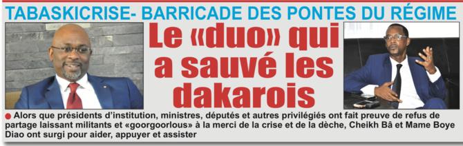 «OPÉRATION TABASCRISE 2019» DANS LE «MACKY» Comment les «officiers» Bâ et Boye ont sauvé le régiment de Dakar d'une humiliation certaine?