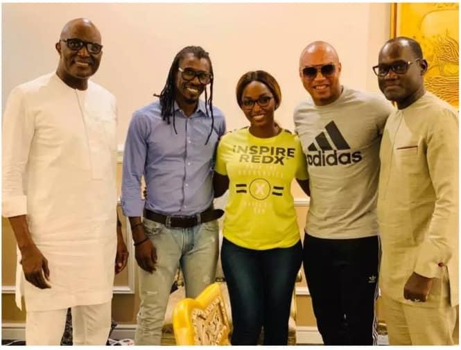 Photos- Retrouvailles d'Aliou Cissé et El Hadji Diouf à l'occasion d'un dîner