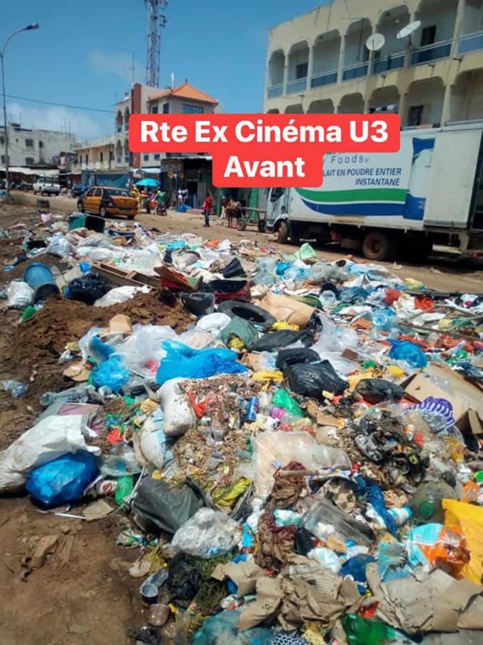PHOTOS : la route de l'ex-cinéma U.3 des Parcelles Assainies change de visage