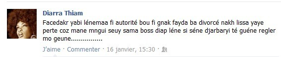 Lissa répond à ses détracteurs sur Facebook