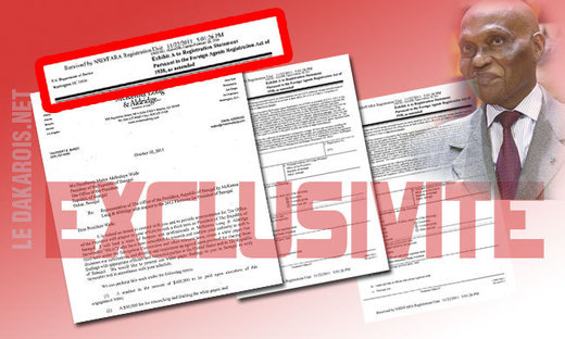 [document additionnel ] La Présidence paie 100 millions de FCFA à un Cabinet américain pour justifier le 3ème mandat de Wade