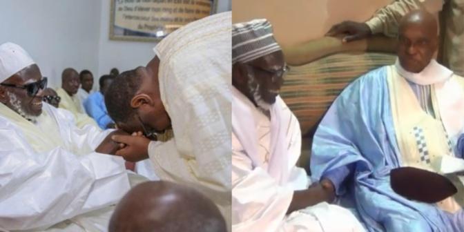 Me Abdoulaye Wade arrive à Massalikoul Jinaan sous les acclamations des fidèles, au même moment que le Président Macky Sall