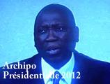 Présidentielle 2012 - Temps d'antenne de Djibril ngom