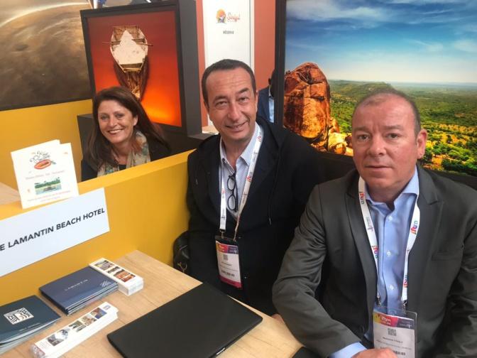 Eric Philibert, Directeur associé - Lamantin Beach, Resort & SPA, accompagné de Bertrand Touly, est venu rehausser la destination Sénégal au IFTM Top Resa 2019.