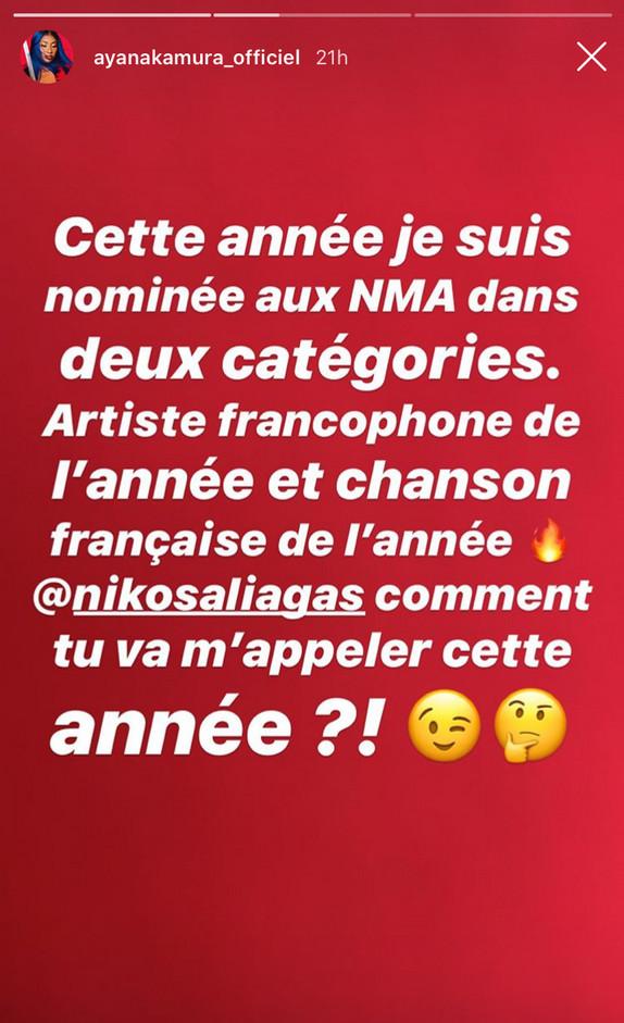 NRJ Music Awards 2019 : Aya Nakamura se moque de Nikos Aliagas