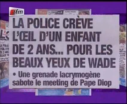Revue de Presse de Lamine Samba du Jeudi 09 Février