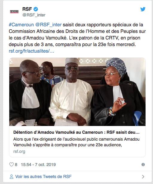 Cameroun: Nouvelle tentative pour faire libérer le journaliste Amadou Vamoulké