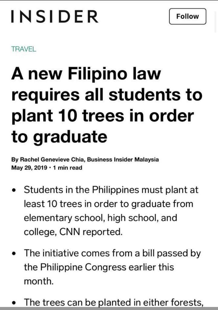 Philippines : 10 arbres à planter d'un cycle à l'autre