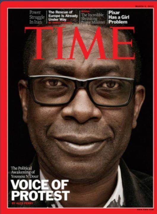 Youssou Ndour à la Une de Time magazine pour son combat politique