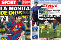 """[Vidéo des buts] Messi, """"la main de Dieu"""""""
