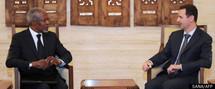 Kofi Annan en Syrie pour rencontrer Bachar al-Assad au nom de l'ONU et de la Ligue arabe