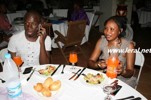 Djiby Dramé et Madame à table