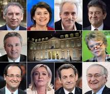 Dix candidatures validées pour la présidentielle en France