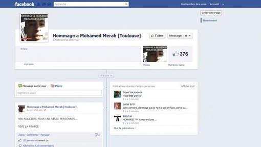 Une fan page Facebook de Merah, le net se fend d'un jeu