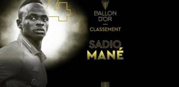 Ballon D'Or : Sadio Mané 4ème au classement final