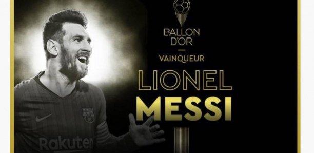 Lionel Messi (Barça) remporte le sixième Ballon d'Or France Football de sa carrière