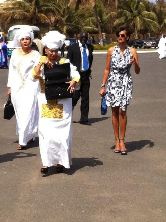 Georgette, la femme d' Eto'o, à Dakar!