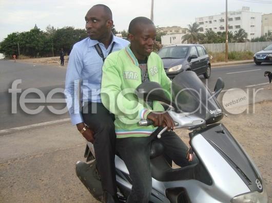 Guorgui Ndiaye en feeling moto-stop!!!