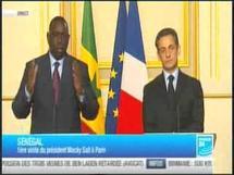 Conférence de presse des présidents Macky Sall et Sarkozy