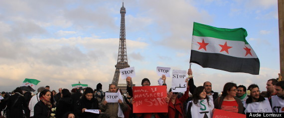 """Vague blanche"" à Paris pour dire ""stop"" aux massacres en Syrie - PHOTOS"
