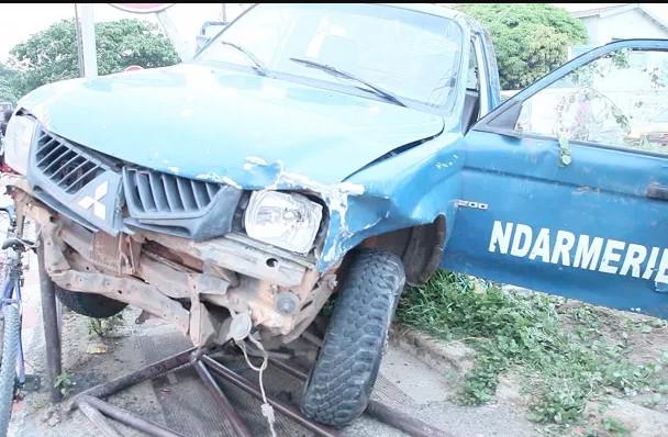 Goudomp : Un véhicule de la gendarmerie de Samine fait des tonneaux sur la RN6