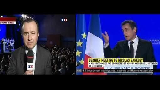 Sarkozy admoneste en direct un journaliste de TF1