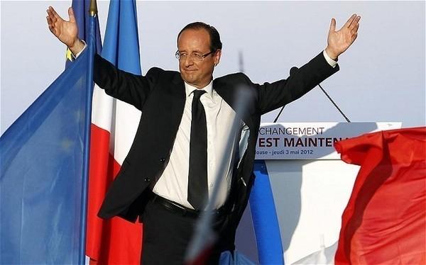 Hollande gagne avec près de 60% à Dakar