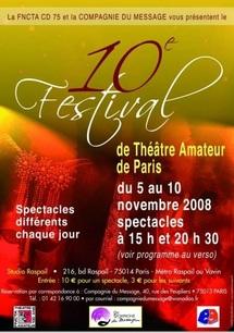 L'organisation de la 10e édition du festival du théâtre