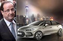 François Hollande choisit une Citroën ds5 hybride pour son investiture