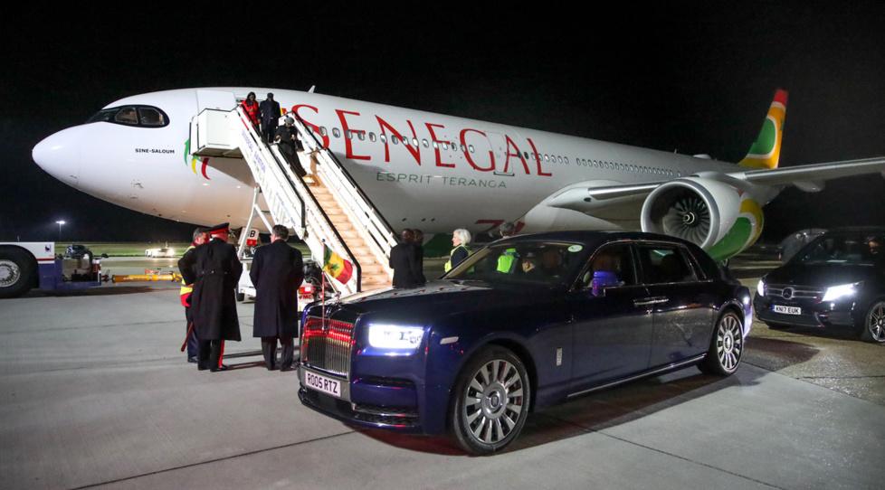 Arrivée à Londres avec le Président Macky SALL