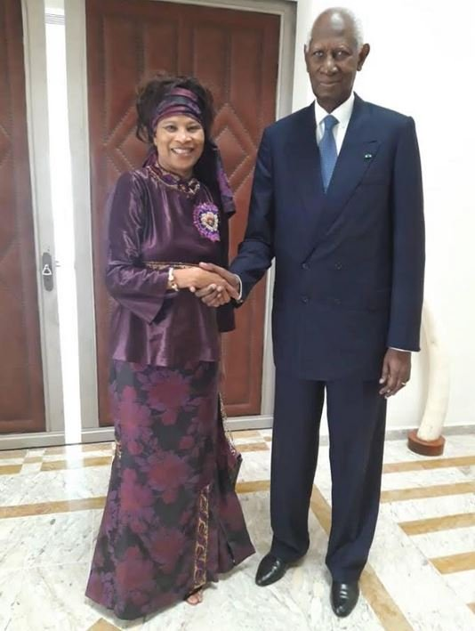 PHOTOS - Retrouvaille chaleureuse entre Me Aissata Tall Sall et Abdou Diouf