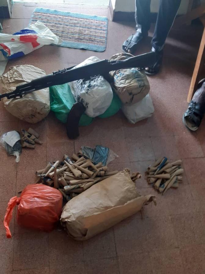Saisie de 234 kilogrammes de chanvre indien, d'une arme de type kalachnikov et deux camions à Tambacounda