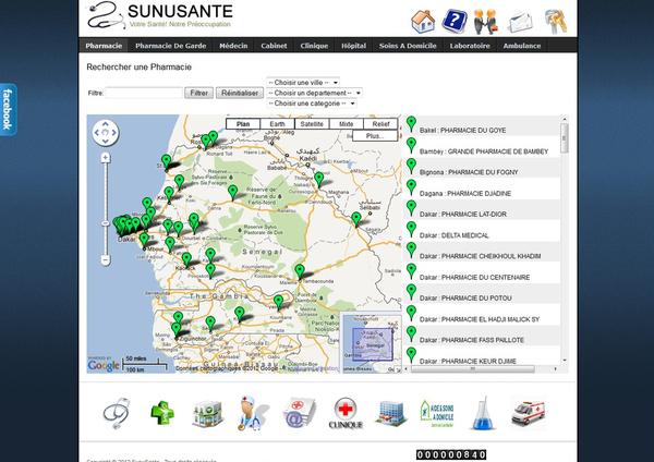 « SUNUSANTE » Le premier portail sur la santé avec un Système de géolocalisation en Afrique