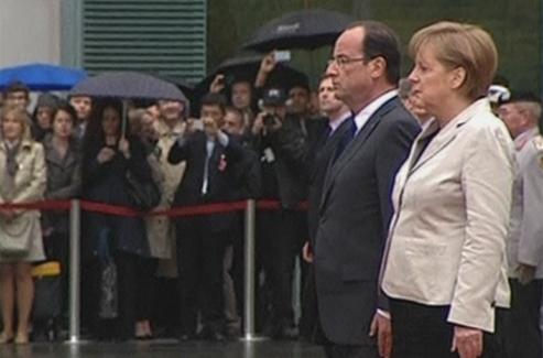François Hollande est arrivé à Berlin