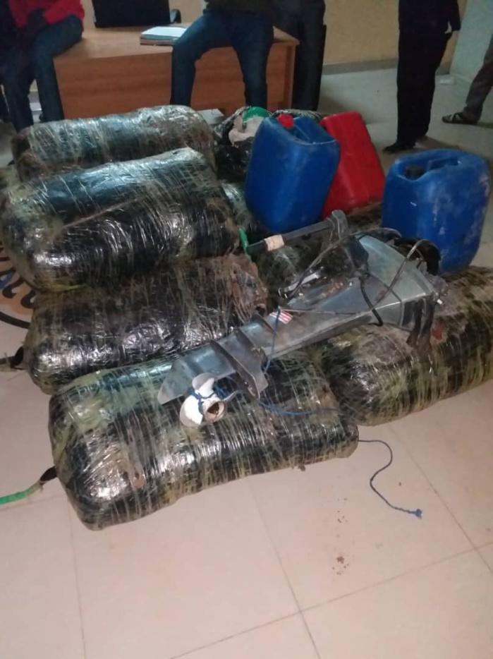 Plage de Yarakh : 314kg de chanvre indien débarqués nuitamment, les trafiquants arrêtés