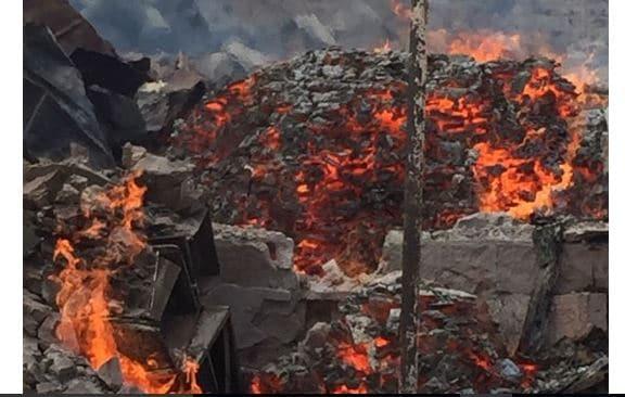 Incendie à Mbeubeuss: suspicion autour de l'origine du feu