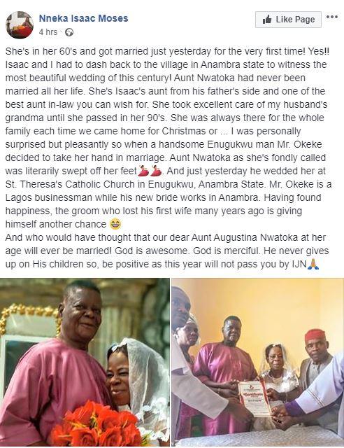 Nigeria: Elle se marie pour la première fois à l'âge de 60 ans (photos)