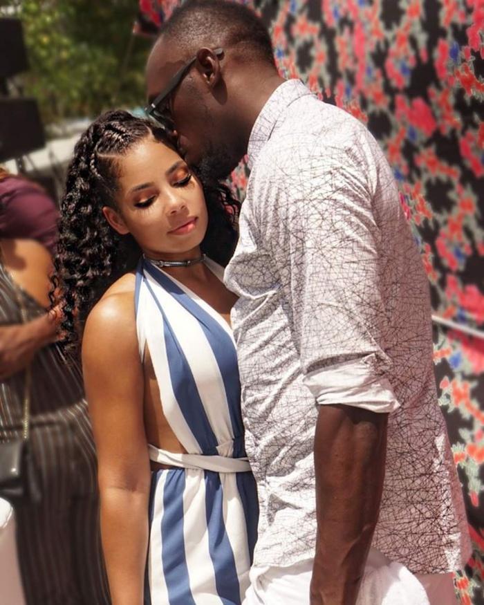 Les photos torrides de Bolt et sa petite amie font sensation sur la toile