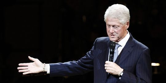 Bill Clinton en campagne pour la réélection de Barack Obama